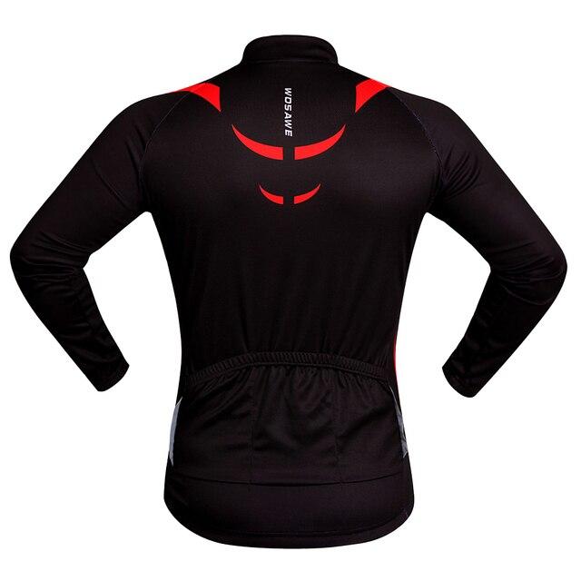 WOSAWE Men Cycling Jersey 2017 Racing DH Downhill MTB Bike Long Shirt Jerseys Sports wear Cycling Clothing