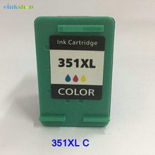 2x 351XL Color  Ink Cartridges For HP Photosmart C4485 C4580 Printers free shipping 2016 new [hisaint]2 pk jf333 color ink cartridges for dell series all in one printers new listing