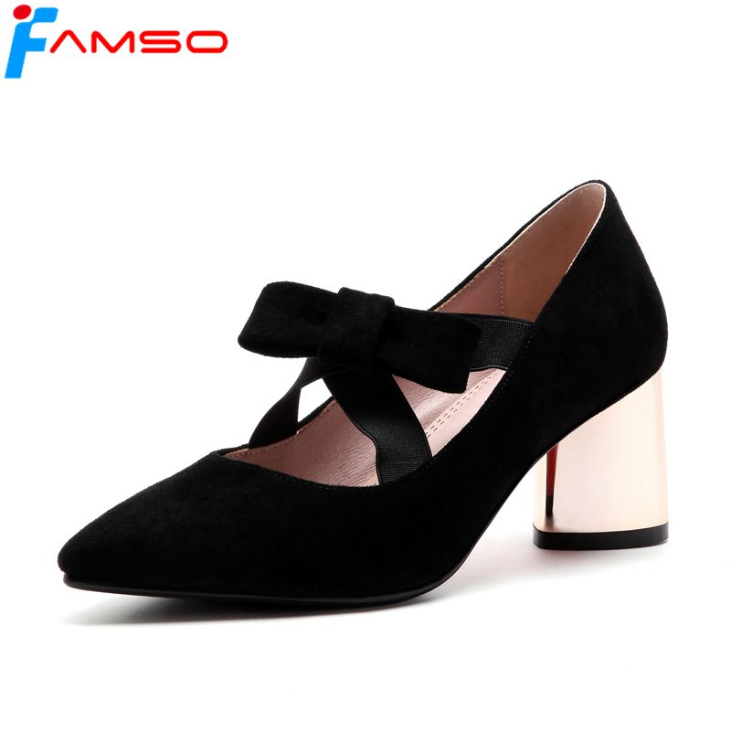 FAMSO 2018 New Shoes Women Pumps Big Size 34-43 Spring Autumn Black red Pink Wedding Shoes Gold Heels Women's Platforms   Pumps siketu 2017 free shipping spring and autumn women shoes fashion sex high heels shoes red wedding shoes pumps g107