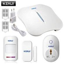 Kerui w1 wifi мини сигнализация smart розетки главная охранной pstn интеллектуальная сигнализация android ios app управления