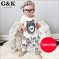 Roupas de bebê novo estilo verão casual roupa infantil roupas de bebê menina conjuntos de roupas de algodão pouco monstros next bebê menino roupas