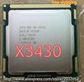 Original intel xeon x3430 quad core 2.4 ghz lga 1156 8 m caché 95 w escritorio cpu (de trabajo 100% envío libre)