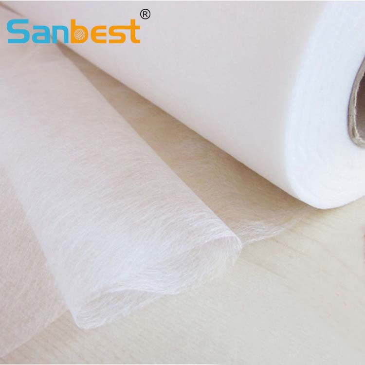 Sanbest Easy Iron On Sewing Fabric Sammanfoga patchwork interlining dubbelbelagd limbatteri 5MX112CM FL00026