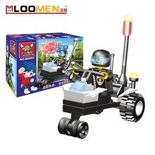 Creative novelty patrol car assembled blocks Police Series DIY Brick fidget toys Planet explorer Creative Building Blocks