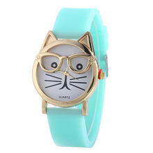 Lovely Silicone Women's Quartz Wristwatches Children's Watches Fashion Candy Color Sports Girl's Watches relogio feminino Gifts