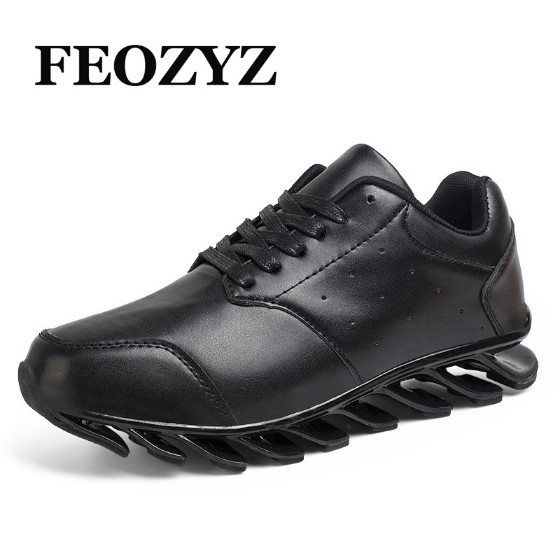 FEOZY Mens Running Shoes 2017 Leather Men Shoes Athletic Jogging Shoes Sport Sneakers Training Shoes Men Trainers Zapatos Hombre men yeezy running shoes sport big size black gray mesh jogging shoes for men summer autumn sneakers mens athletic trainers male
