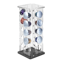 Nespresso Capsule Holder Acrylic Coffee Capsule Storage Rack Dispensing Tower Display Stand For 20PCS|Coffeeware Sets| |  -