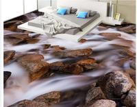 3d floor painting wallpaper Landscape rock 3D floor pvc floor wallpaper 3d flooring bathroom waterproof wallpaper