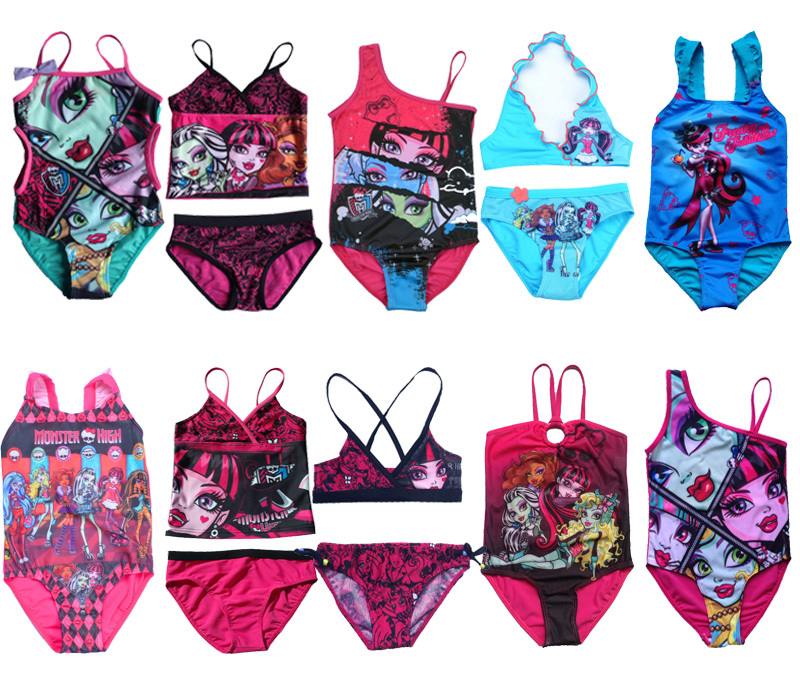 Monster High School Girls Kids 1pc2pcs Set Swimsuit Tankini