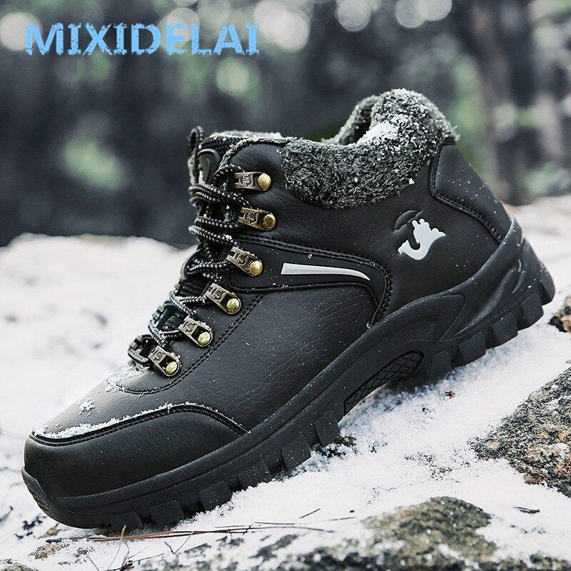 Werkschoenen Almere.Beste Kopen Mixidelai Plus Size Mannen Laarzen Winter Warme