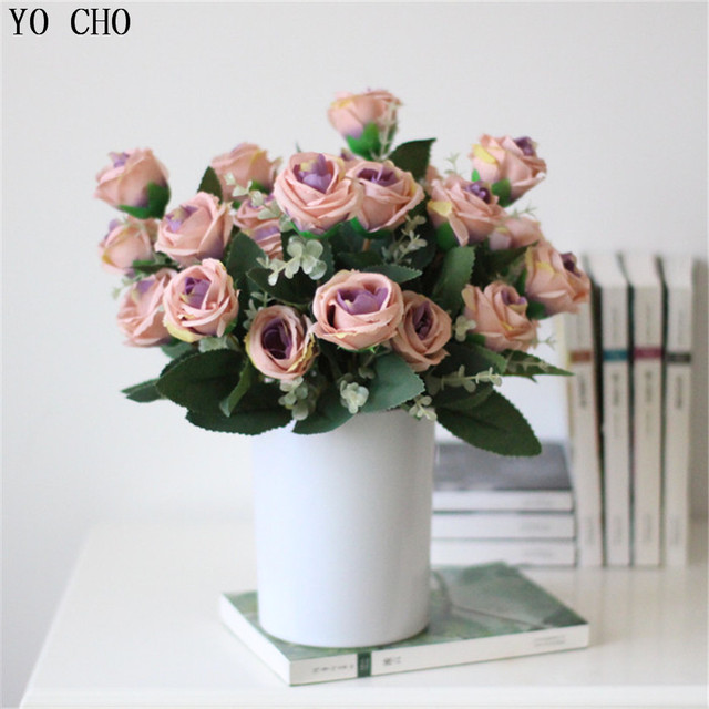 Wholesale Cheap Fake White Rose Wedding Flower Party Decoration Red
