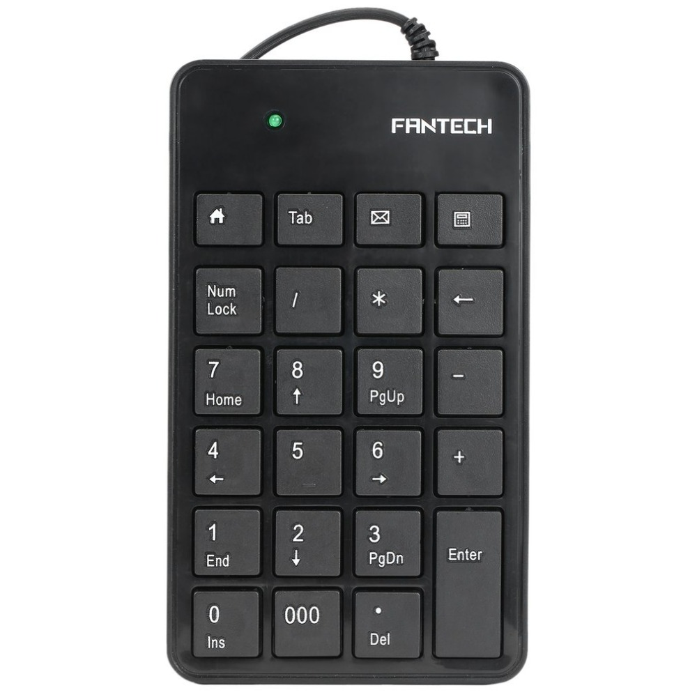 FANTECH High Quality Mini 23-Keys USB Number Pad Keypad Numeric Keyboard For Laptop Notebook Hot Sale Free Shipping Dropshipping programmable usb emulator rs232 lcd acsii format keyboard numeric keypad keyboard pin pad keyboard