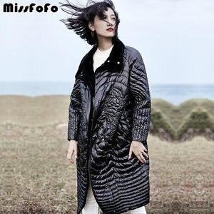 Image 5 - MissFoFo נשים למטה מעילי CLJ מותג מעיל עלה חדש למטה Parka טכנולוגיה חדשה באיכות גבוהה יפה דק רופף נשי למטה מעיל