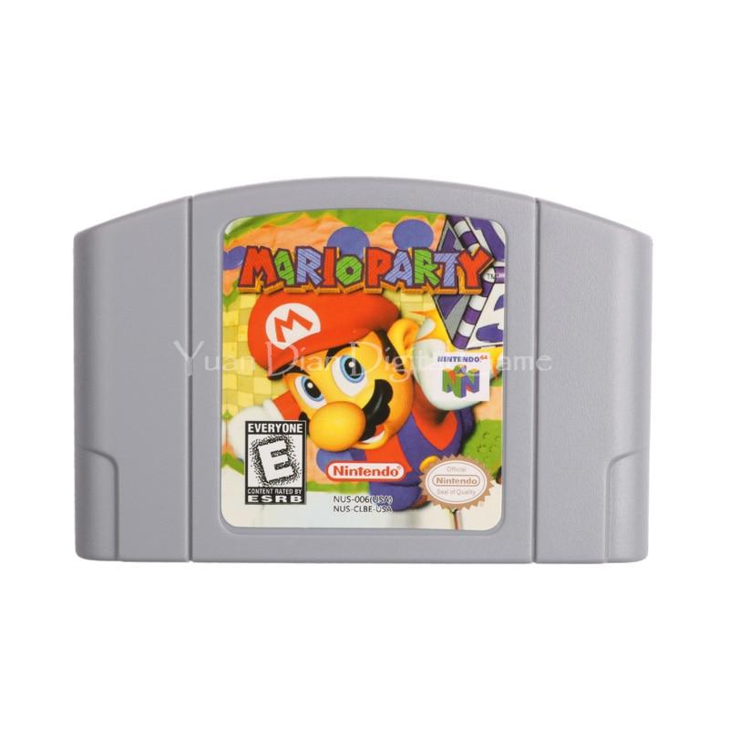 Nintendo N64 Video Game Cartridge Console Card Mario Party English Language US Version