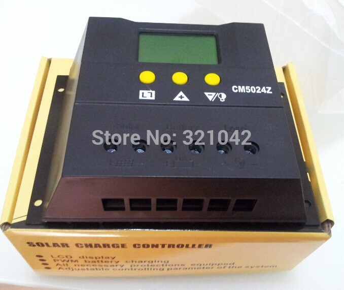 CM5024Z PWM Solar Charge Controller 50A 12V/24VDC Solar Panel Battery Regulator 50A Solar Charger 600W/1200W cheap saipwell high power solar charge controller 12v 50a smg50