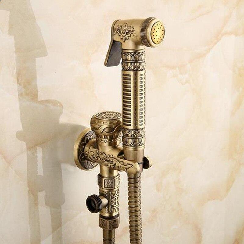 Bathroom Bidet Faucet Set Solid Brass Finish Toilet