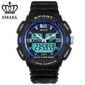 SMAEL Mens Watches Top Brand Luxury LED Digital Dual Watch Waterproof Date Display Relogio masculino erkek saat Men Gift WS1378