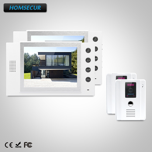 HOMSECUR 8 Wired Video&Audio Smart Doorbell+IR Night Vision for Home Security TC011-W + TM801-W