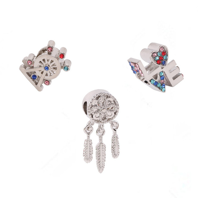 dodocharms Cute Color Ferris Wheel Bead Series DIY Suitable for Pandora  Bracelet European Fashion Trend Charm Jewelry 60f00928aaa
