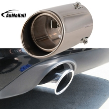 Car Exhaust Pipe Straight Car Stainless Steel Chrome Square Tail Muffler Tip Pipe Automobile Exhaust Pipes Tips