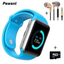 Pewant smartwach deporte podómetro bluetooth 4.0 smart watch android reloj conectado con ayuda de la cámara tarjeta sim smartwatch