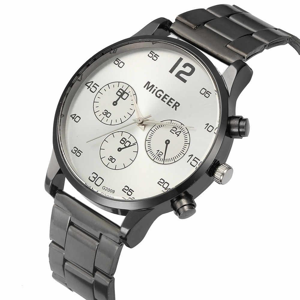 xiniu Vintage Design Watch For Men Stainless Band Three Eyes Analog Alloy Quartz Wrist Watch relogios masculino hombre Clock