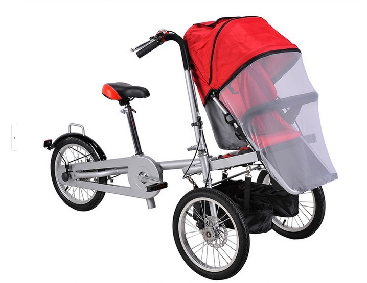 accessories rain cover mosquito net  wheels bicycle mother baby stroller bike carrier bicycle