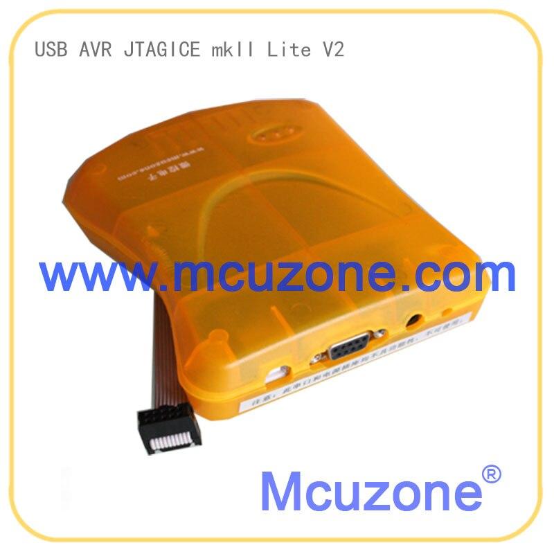 USB AVR JTAGICE MKII LITE V2 Emulator  Isp Jtag Avr32 Debugwire