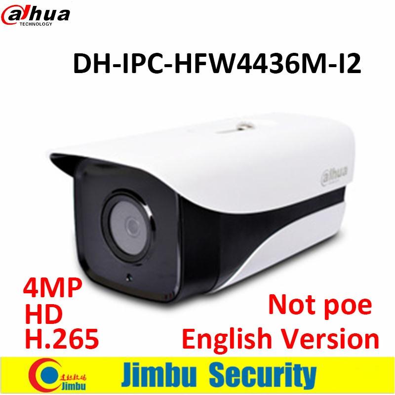 ФОТО Original Dahua 4MP H.265 HD network camera DH-IPC-HFW4436M-I2 surveillance camera IR WDR Bullet Security Camera Support Onvif