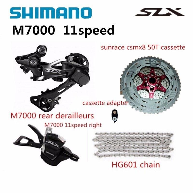 Shimano slx m7000 vélo vélo vtt 11 vitesse shifter arrière Dérailleurs avec sunrace csmx8 50 t cassette