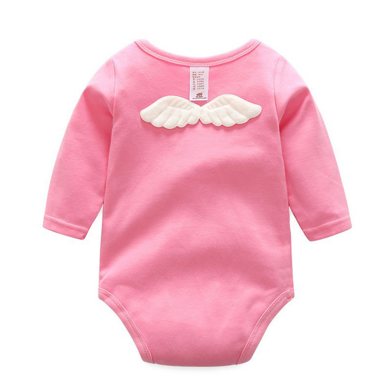 New Cartoon Wings Baby Bodysuit Cotton Soft Infant Baby Girls Jumpsuit Longsleeve O-Neck Baby Boys Bodysuit Spring Autumn ...