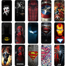Cool marvel Phone Case For Huawei mate 10 Lite P8 P9 P10 Plus Honor Superman Spiderman Batman Patterned TPU Cover