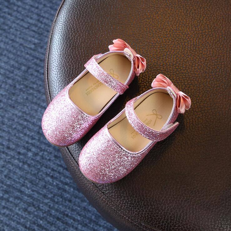 Kids Girls Shoes Spring Autumn Soft Sequins Princess Dance Shoes Girls Sneakers Baby Gir ...