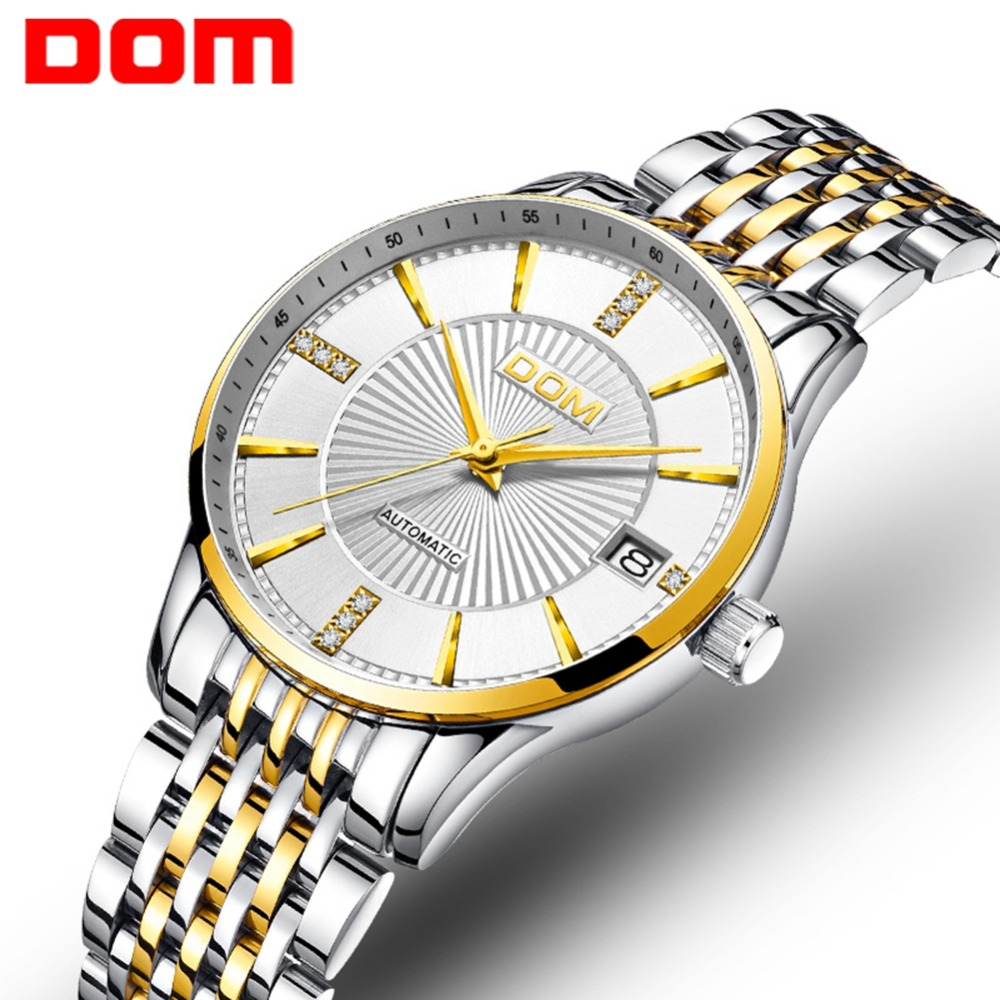 DOM Top Luxury Brand Mechanical Women Watches Waterproof Female Steel Watches Automatic Classical Clock Montres Femme  G-79DOM Top Luxury Brand Mechanical Women Watches Waterproof Female Steel Watches Automatic Classical Clock Montres Femme  G-79