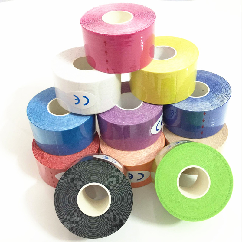 цена на 11colors Elastic kinesiology tape 5 meter sports roll physio muscle strain injury sport wrist support 5M kinesio tape