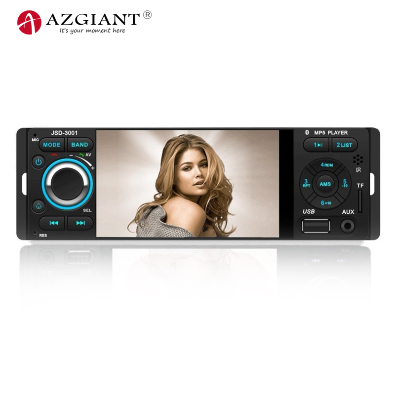AZGIANT 4.1 inch Touch Screen Car stereo MP5 Player Bluetooth Car Radio Rudio Support Hands-free Calls Rear View Camera Aux in кардиган voi jeans