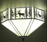 light Christmas elk ceiling light southeast village color glass art light bar study bedroom Restaurant ceiling lamps DF37