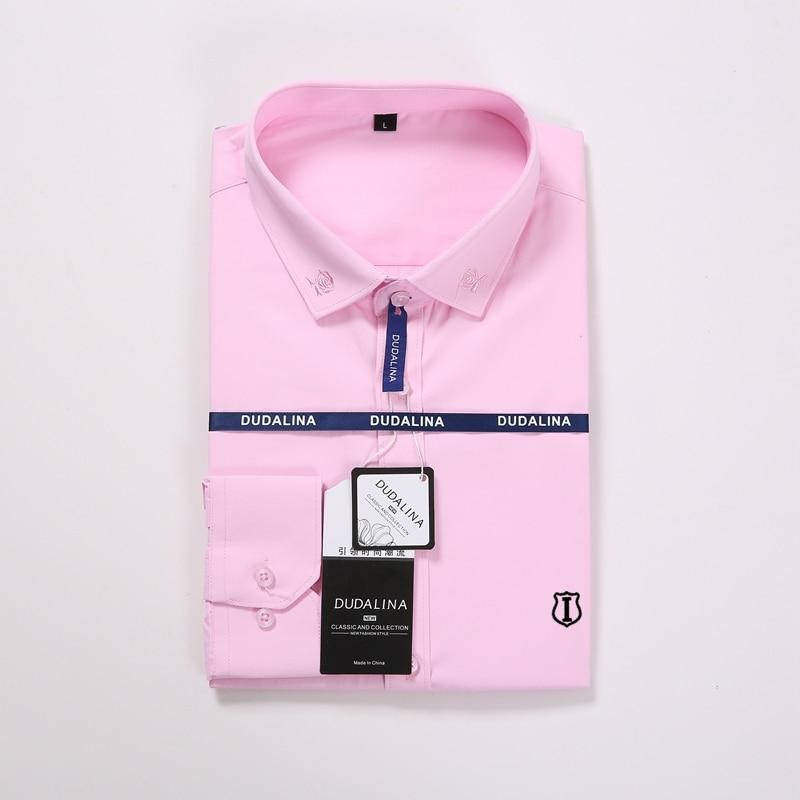 Image 3 - Aramis Sergio K Dudalina Men Shirt Camisa Social Masculina 2019 Men Shirt Embroidery Logo Long Sleeve Business Casual Shirts Men-in Casual Shirts from Men's Clothing