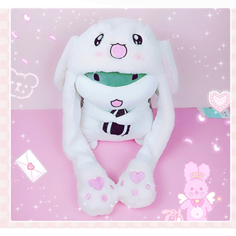 Adult Children Sweet And Cute Rabbit Cap Cosplay Pinch Paw Will Dance Little Rabbit Cosplay Party