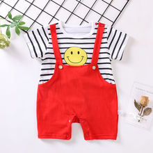 2019 1st birthday baby boys girl clothing outfits set sports jumpsuit suit for newborn baby girls boys summer clothes set romper(China)
