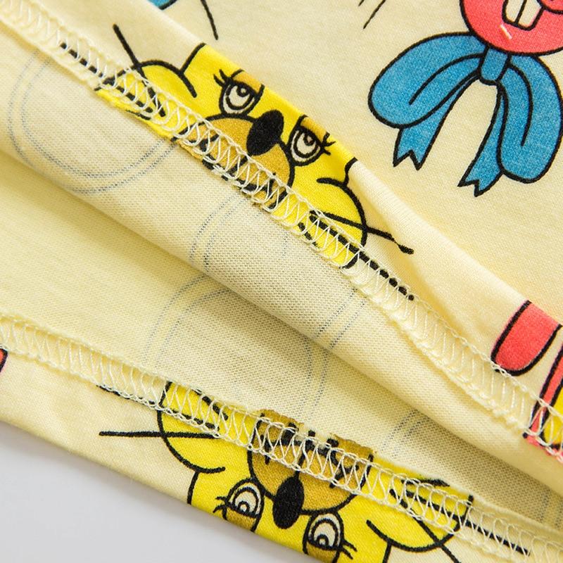 Boys Girls Koszulki Summer Unisex Cartoon Rabbit Cat Mouse Cotton - Ubrania dziecięce - Zdjęcie 4