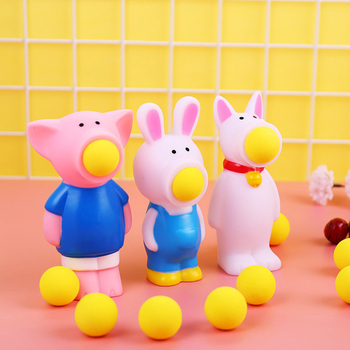 Hot Baby Toys Squeeze Toys Creative Dolls Toys Stress Relief Spit Balls Animal Shooting Toys newest hot sale squeeze cans flash powder clear slime scented stress relief toy sludge toys interesting toys creative diy toys