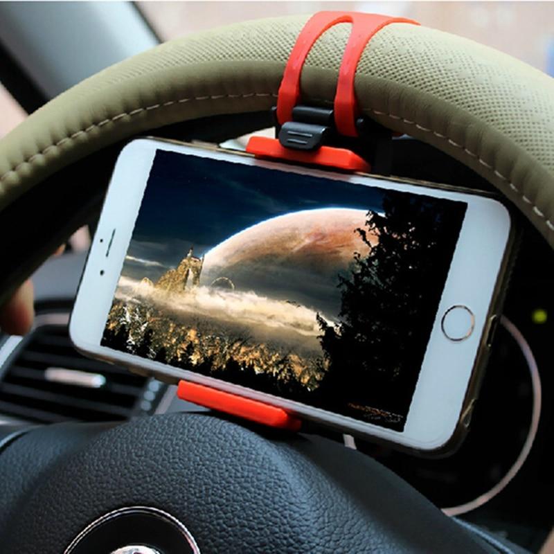 Universal Car Phone Holder Car Steering Wheel Phone Navigation Holder Bike Mount Cellphone GPS Stand Bracket For IPhone Samsung