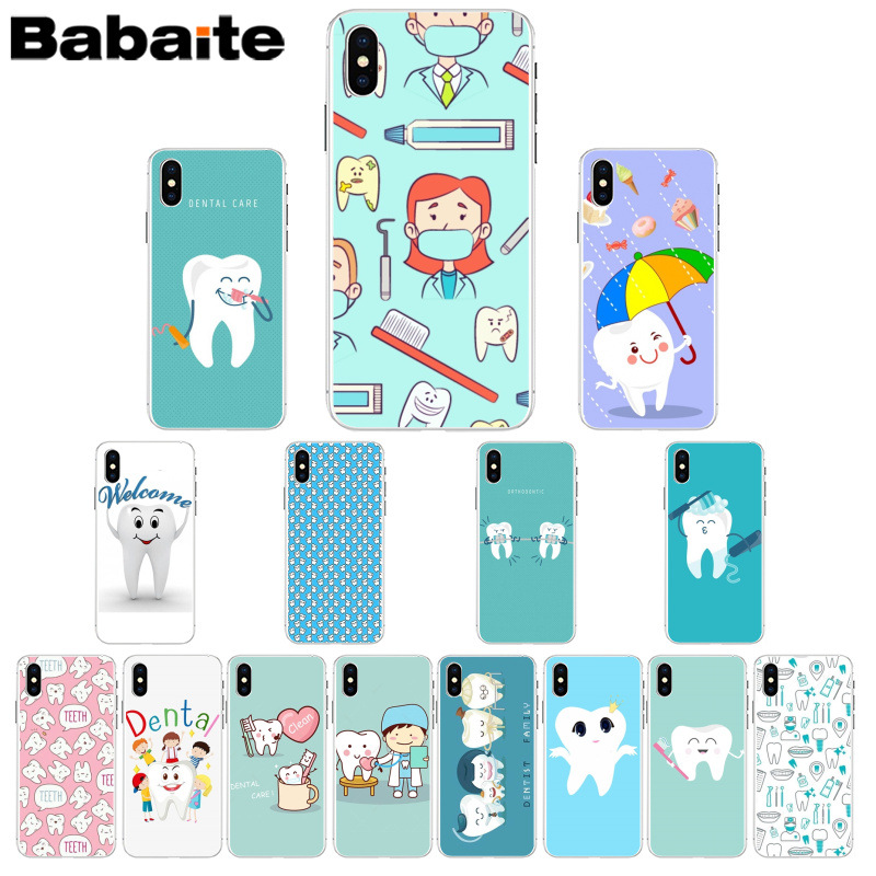 Maiyaca Nurse Doctor Dentist Stethoscope Tooth Injections Tpu Soft Phone Case For Iphone 5 5sx 6 7 7plus 8 8plus X Xs Max Xr Phone Bags & Cases