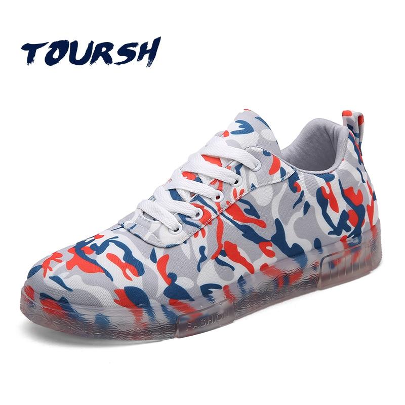 Prix pour TOURSH 2017 Vente Chaude Planche À Roulettes Chaussures Sneakers Hommes Chaussures Low Top Classiques En Plein Air Respirant Sport Chaussures de Camouflage Hommes
