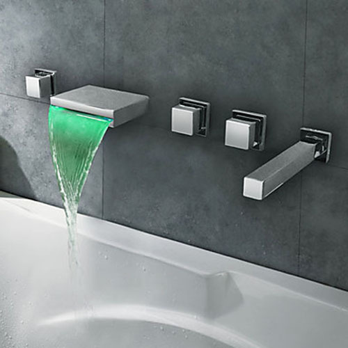 Genial Modern Chrome Brass Finish Wall Mount Waterfall LED Bathtub Faucet Mixer  Tap In Shower Faucets From Home Improvement On Aliexpress.com | Alibaba  Group