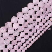 Free Shipping 6 8 10 12mm Cube Faceted Rose Quartz Beads For Jewelry Making Natural Stones