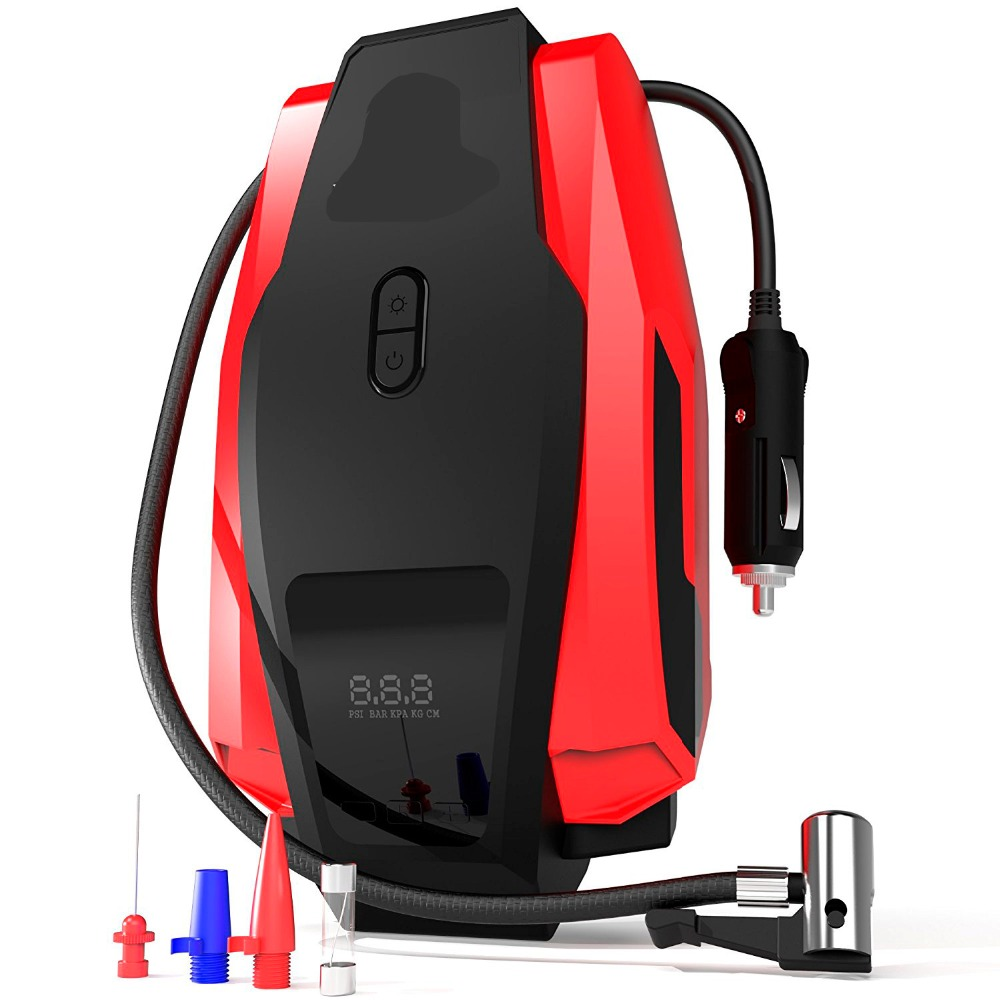 Auto Luft Kompressor Pumpe 150PSI 12 V Digitale Reifen Inflator Auto Reifen Pumpe mit Notfall Led Beleuchtung