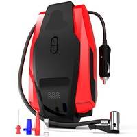 With Carry bag Car Air Compressor Pump 150PSI 12V Digital Tire Inflator Auto Tire Pump with Emergency Led Lighting