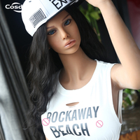 Cosdoll 158cm/165cm Realistic Brown TPE Skin Sex Doll American Girl Sex Toys with C Cup Breasts Love Doll Free shipping